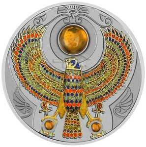 Niue 2017 2$ Falcon of Tutankhamun Amber Horus 2oz Silver Coin - <span itemprop='availableAtOrFrom'>Ostrowiec Swietokrzyski, Polska</span> - Niue 2017 2$ Falcon of Tutankhamun Amber Horus 2oz Silver Coin - Ostrowiec Swietokrzyski, Polska