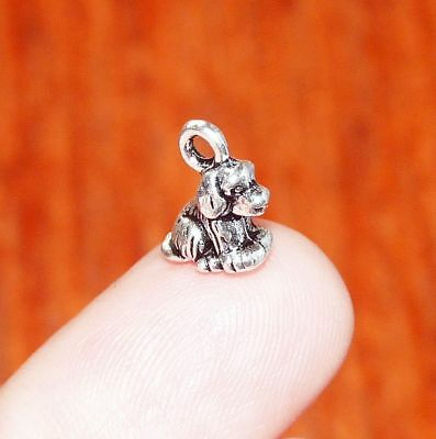 10x Cute Dog Charms for Bracelet Animal Jewelry Spaniel Necklace Pendant Silver](Dog Charms For Bracelets)