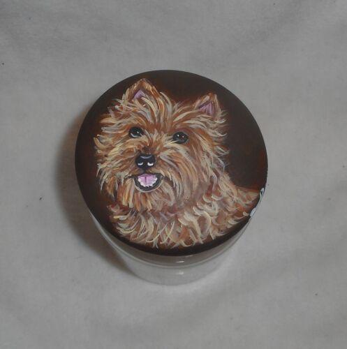 Wheaten Cairn Terrier Dog Cookie Treats Jar Container Kitchen decor Hand Painted