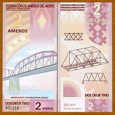 Federation of North America, 2 Ameros, 2011, Polymer, New, UNC