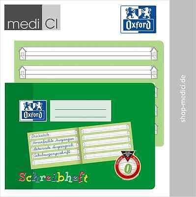 Oxford Schreibheft DIN A5 quer Lineatur 0, 1.Klasse Grundschule