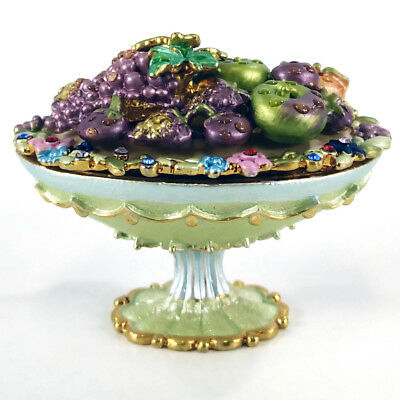 Pb-002 Green Festival Fruits Decorative Enamel Pill Box Container Trinket Box