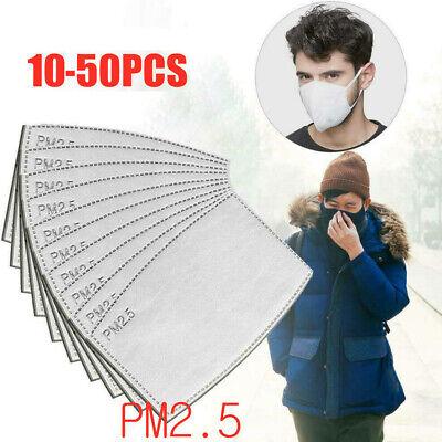 10-50PCS Activated Breath Insert Anti-dust Carbon Odour Filter Replaceable PM2.5