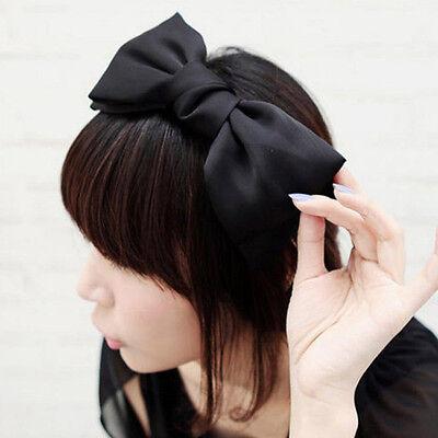 Women Girls Flower big Bow knot Bowtie Ribbon Hair Head Band Hoop Headband Hot - Big Headbands