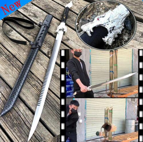 Wolf Head Outdoor Dao Sword Katana Sharp High Carbon Steel Handmade Battle Knife