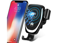 Wireless Car Charger Easy Touch Qi Fast Wireless Car Charge Mount Kit Air Vent Phone Holder