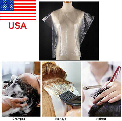 200pcs Disposable Hair Cutting Capes Hairdressing Barber Apron Dyeing Barber USA Electric Shavers