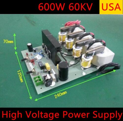 US Adjustable High Voltage Electrostatic Precipitator Power Supply 600W 60KV