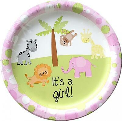 Girl Baby Shower Plates And Napkins (Greenbrier Baby Shower Plates and Napkins - 18CT - It's a Girl )