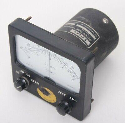 Vintage Trio Vacuum Tube Direct Current Voltmeter 30-0-3010-0-10 Model Se 1033