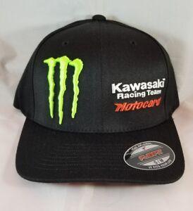 192f3479812 Monster Kawasaki Racing Team Motocard hat S M