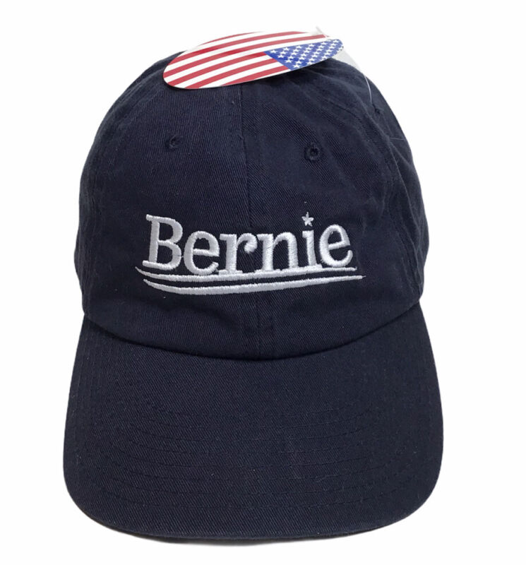 BERNIE Hat Bernie Sanders for President Adult OSFA USA Flag On Hat Hard To Find