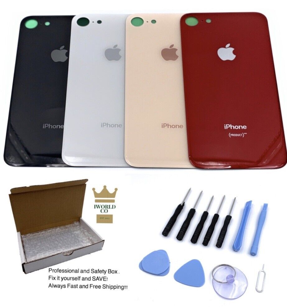 Apple iPhone 8 Back Glass OEM Replacement Battery Door Cover