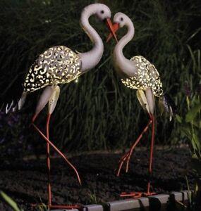Luxform Garden & Outdoor Lighting Solar Metal Light Statue Ornament - Stork Bird