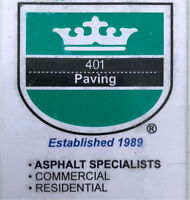 Emergency asphalt repairs and patches!! Call 401 paving now!!