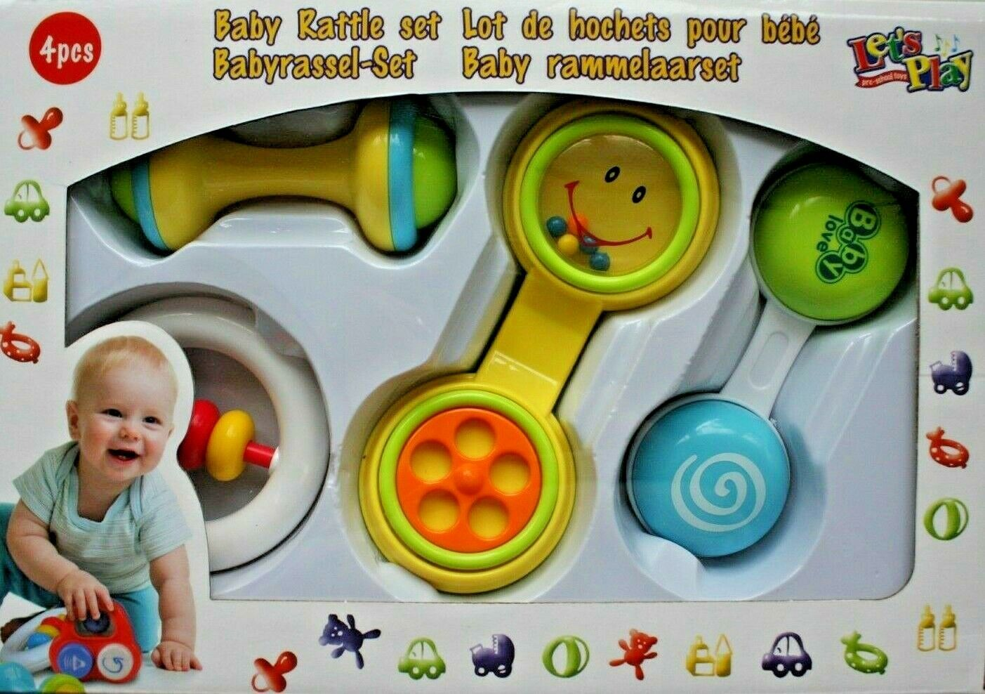 Babyrassel Set Baby Rassel Klapper Greifling Baby spielzeug