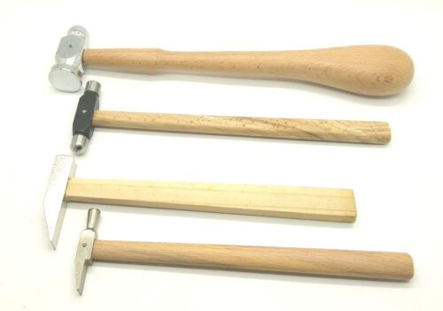 set of 4 hammers Repouse ball pein planishing metal jewellers tools,watch makers