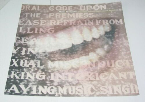 Alanis Morissette Store Display Album Flat 12x12 Mini Poster Infatuation Junkie