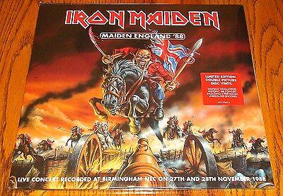 IRON MAIDEN MAIDEN ENGLAND 88 DOUBLE PICTURE DISC VINYL LPs STILL SEALED! IMPORT