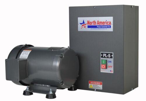 PL-5-T Pro-Line 5HP Rotary Phase Converter w/ TEFC Idler Motor-Built In Starter
