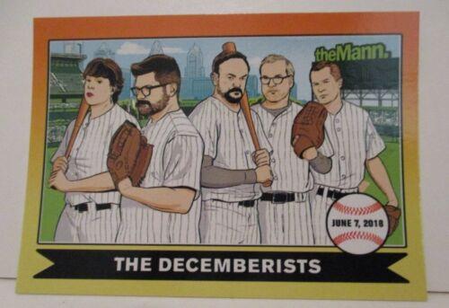 THE DECEMBERISTS M WARD 2018 TOUR MANN MUSIC CENTER PHILADELPHIA TRADING CARD