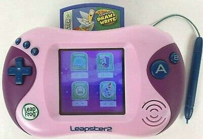 Leapster 2 Learning Game System Purple Handheld with Game and (Handheld Learning System)