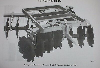 Ih Mccormick International 122 1pt 3pt Folding Tandem Disk Harrow Owners Manual