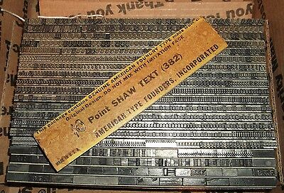 Antique 10pt Shaw Text Letterpress Foundry Type Printing Vintage Old English