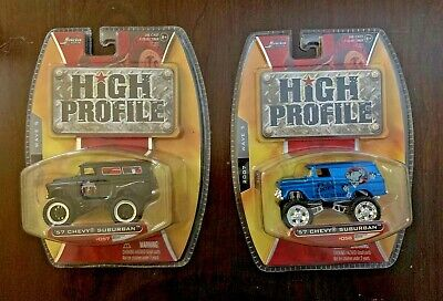 Lot of 2 Jada High Profile 2007 Wave 5  '57 Chevy Suburbans #057 and #058