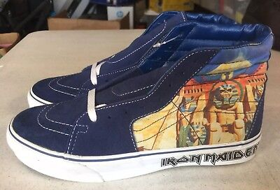 Vans Iron Maiden Power Slave Metallica Slayer SK8-HI Shoes US 10