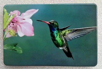 "BIRD with FLOWER, ALUMINUM HITCH PLUG COVER, UV-3""x 5"""