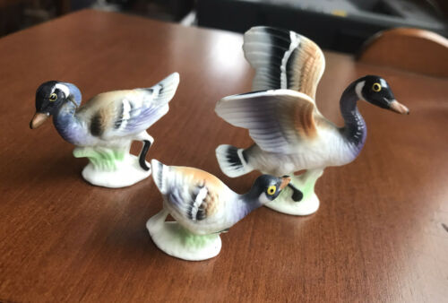 VTG BONE CHINA MINIATURES DUCK CANADA GOOSE ...