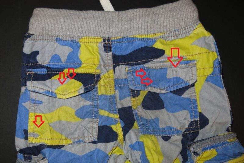 fdacf39fd Mini Boden boys Vintage Zip Off techno cargo pants camouflage camo shorts  fun 6Y .