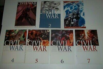 CIVIL WAR #1 - 7 (2006) Marvel Comics Captain America Iron Man Spider-Man