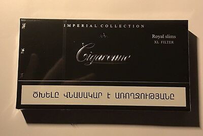 Cigaronne Imperial Collection Royal Slim Xl Filter Cigarette Black