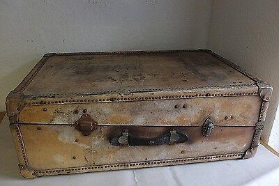 Antik großer englischer Überseekoffer Vertex London Reise Koffer Truhe