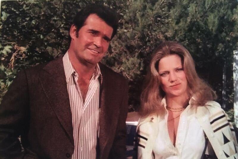 "James Garner & Gretchen Corbett Rockford Files Reprint 4x6"" Photo"