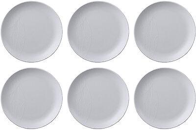 QUEENS JAMIE OLIVER WHITE 6 x SIDE PLATES (SIDE KICK) 19cm - BRAND NEW/UNUSED