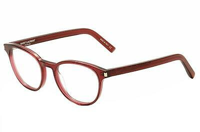 New YSL Reading Glasses Classic 10 Saint Laurent Round Red Transparent (Ysl Reading Glasses)