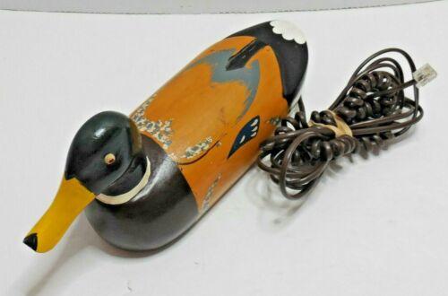 Vintage Wood Mallard Duck Decoy Landline Telephone Quack Fone untested