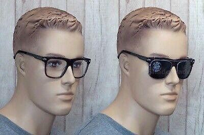 *VUARNET* Men Women CLIP-ON SUNGLASSES + GLASSES FRAME GREY GREEN 1404 0004 (Vuarnet Ski Glasses)
