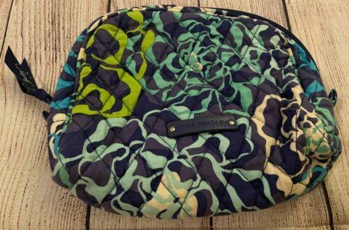 Vera Bradley Cosmetic Bag in Katalina Blues - Make-up Case - Floral - Blue/Green