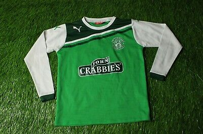 HIBERNIAN SCOTLAND 2011/2012 FOOTBALL SHIRT JERSEY HOME PUMA ORIGINAL YOUNG M image