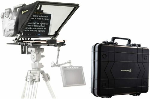 Glide Gear TMP 750 Professional Autocue Tablet Teleprompter 70/30 Hard Case