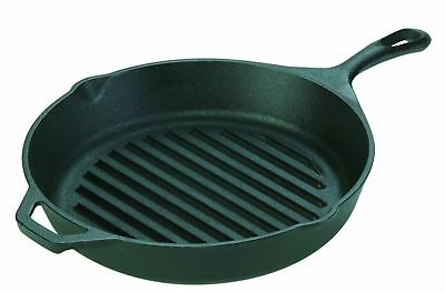 """Lodge Logic L8GP3 Pre Seasoned Cast Iron 10-1/4"""" Round Grill Pan New With Tags!!"""
