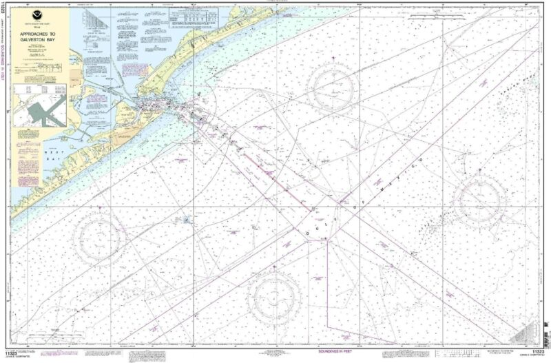 NOAA Chart Approaches to Galveston Bay 65th Edition 11323