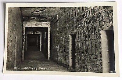 RPPC Postcard Thebes The Tomb of Rameses IX Lehnert & Landrock Cairo Egypt