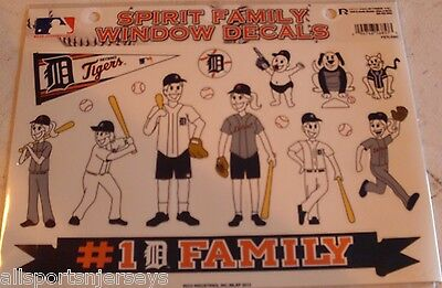 MLB Detroit Tigers Family Spirit Window Decals set of 17 By Rico Industries Detroit Tigers Family Decal