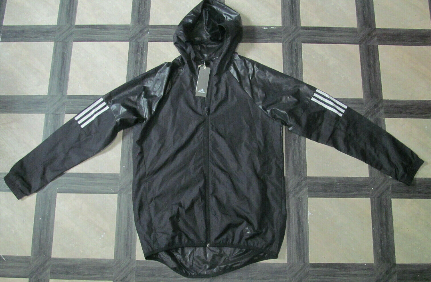 *NEW* MEN'S ADIDAS ESSENTIALS HOODIE RESPONSE WIND JACKET* B