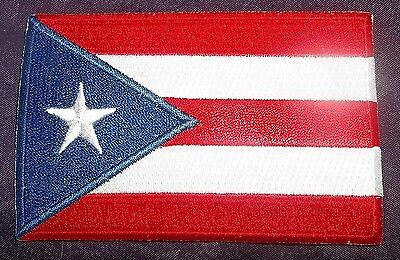 PUERTO RICO FLAG PATCH SAN JUAN  PUERTO RICAN EMBROIDERED
